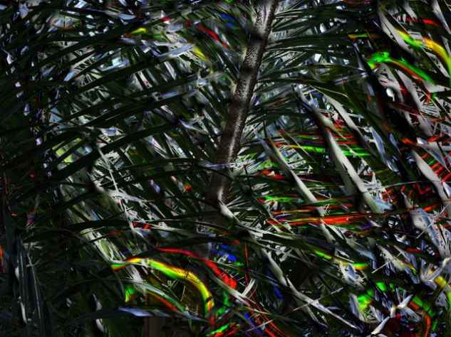 Expressive abstract palm