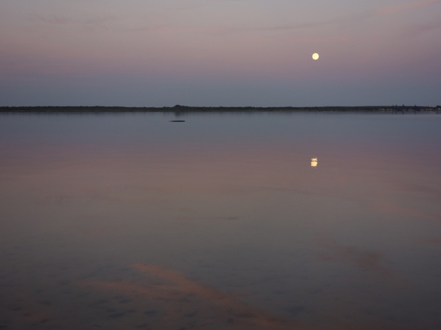 Moon on the lake